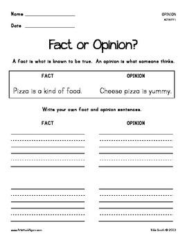 Common Core Writing: Opinion (Grades 1-2)