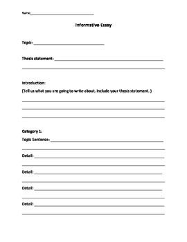 Common Core Writing Organizers 3rd/4th Grades