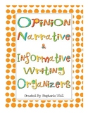 Common Core Writing Organizers - Opinion, Narrative, & Inf