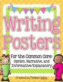 Common Core Writing Posters: Opinion, Narrative, Informati