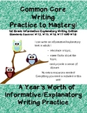 Common Core Writing Practice to Mastery! 1st Grade Informative Writing Edition