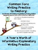 Common Core Writing Practice to Mastery! 2nd Grade Informative Writing Edition