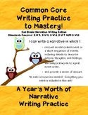 Common Core Writing Practice to Mastery! 2nd Grade Narrative Writing Edition