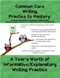 Common Core Writing Practice to Mastery! 3rd Grade Informa