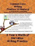 Common Core Writing Practice to Mastery! 3rd Grade Narrati