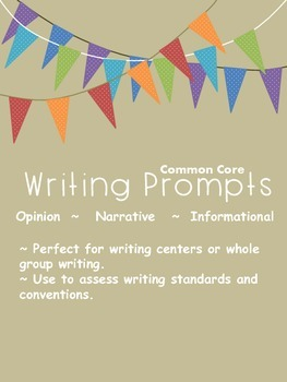 Common Core Writing Prompt Pages