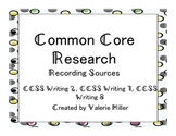Common Core Writing Research Sources