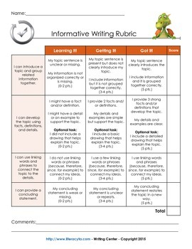 Common Core Writing Rubrics (2-3)