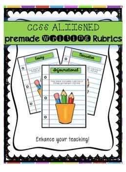 Common Core Writing Rubrics: 3rd Grade