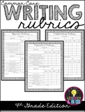 Common Core Writing Rubrics: 4th Grade