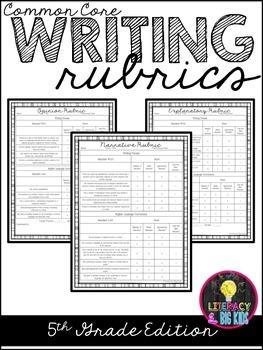Common Core Writing Rubrics: 5th Grade