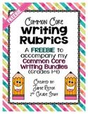 Common Core Writing Rubrics FREE for Grades 1-4