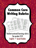 Common Core Writing Rubrics, Grades 9-12 Bundle