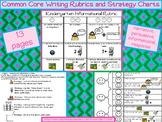 Common Core Writing Rubrics and Strategy Charts for Kindergarten