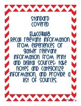 Common Core: Writing Standard: Gathering Information
