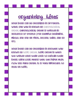 Common Core: Writing Standard: Organizing Ideas: Narrative