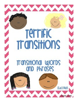 Common Core: Writing Standard: Transition Words
