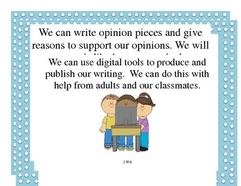 Common Core Writing Standards Mini Posters