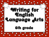 Common Core Writing Standards Posters 6th grade RED