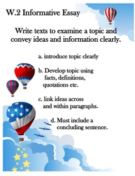 Common Core Writing Standards posters`