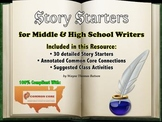 Common Core Writing: Story Starters for Middle and High School Students