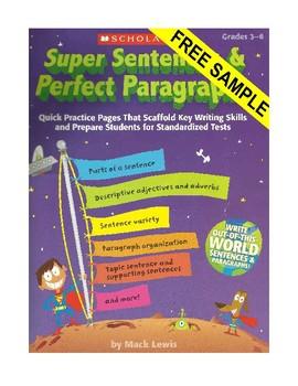 Common Core Writing: Super Sentences & Perfect Paragraphs Sampler