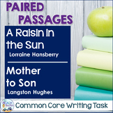 Common Core Writing Task:   A Raisin in the Sun & Mother to Son