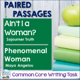 Writing Task: Ain't I a Woman? & Phenomenal Woman