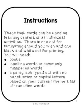 Writing Task Cards (The Write Stuff)