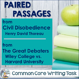 Common Core Writing Task:  Civil Disobedience and The Great Debaters