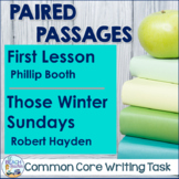 Close Reading and Writing Task:  First Lesson & Those Winter Sundays