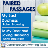 Writing Task:  My Last Duchess & To My Dear and Loving Husband
