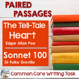 Common Core Writing Task:   Poe's The Tell-Tale Heart & Greville's Sonnet 100