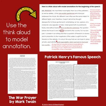 Common Core Writing Task: Speech to Second VA Convention & The War Prayer
