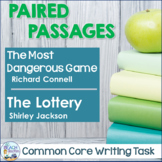 Common Core Writing Task:  The Most Dangerous Game & The Lottery