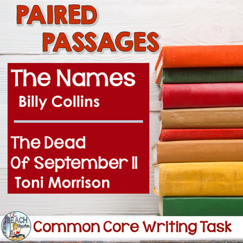 Common Core Writing Task:  The Names & The Dead of September 11