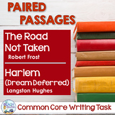 Paired Texts - Road Not Taken and Harlem (Dream Deferred) - Distance Learning