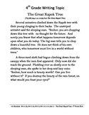 Common Core/PARCC Fourth Grade Writing Prompt:  The Great Kapok Tree