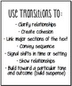 Free Writing Transitional Words Anchor Charts