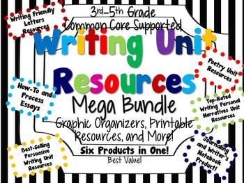 Common Core Writing Unit Mega Bundle for 3rd-5th Graders