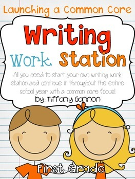 Common Core Writing Workstation Complete Packet {First Grade}