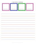 Common Core Writing basic sentence strip with lined paper set