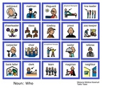 Common Core Writing basic sentences noun and verb picture card set