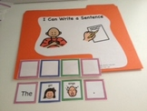 Common Core Writing basic sentences using picture word cards grades K-2