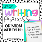 Common Core Writing for 3rd, 4th, & 5th Grade! Writing Process Opinion Kit