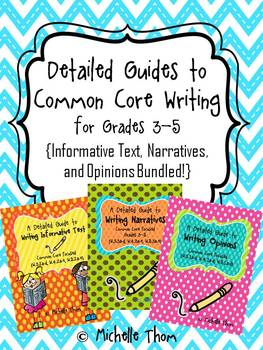 Common Core Writing for Grades 3-5 {Narratives, Informative, & Opinion Bundled}