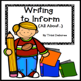 Writing to Inform (All About Books) Unit of Study