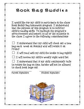 Common Core aligned CCSS.ELA-Literacy.RF.K.3c Take Home Book Bags
