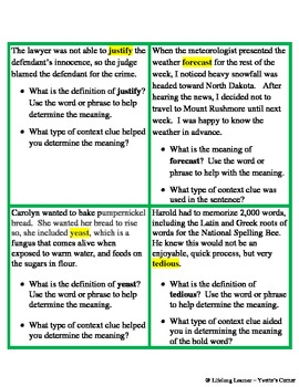 Common Core Aligned Context Clues Part 1 (Includes Tier 2 Words!)