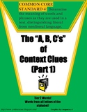 Common Core Aligned Context Clues Part 1 (Includes Tier 2 Words!)